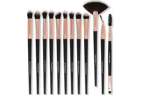 Spezzee - 12 Piece Makeup Brush Set Choose from 3 Colours - Save 70%