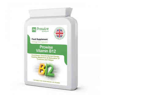 Prowise Healthcare - Two month supply of vitamin B12 capsules with methylcobalamin - Save 71%