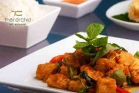 Thai Orchid - Two Course Thai Meal For Two With Rice and Glass of Wine Each - Save 50%
