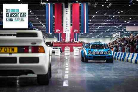 The London Classic Car Show - One of the biggest exhibitions celebrating the worlds greatest classic cars - Save 30%