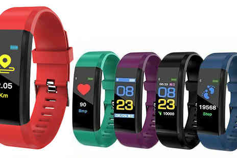 Secret Plums - Fitness Smart Watch Choose from 5 Colours - Save 79%