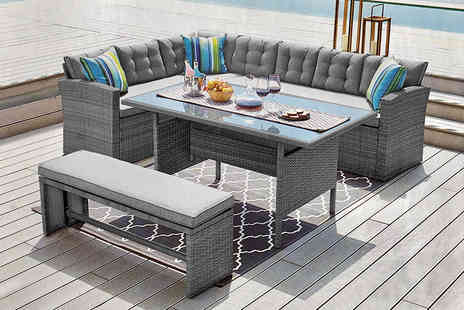 Dreams Outdoors - 10 seater rattan outdoor furniture set - Save 60%