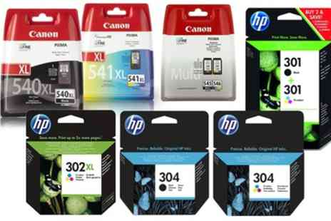 Raion Limited - Original HP or Canon Printer Ink Cartridges With Free Delivery - Save 16%