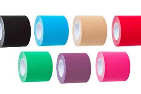 Groupon Goods Global GmbH - Up to 12 Rolls of Kinesiology Tape in Choice of Colour - Save 77%