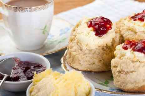 Little Wheelbarrow Cafe - Traditional Cream Tea with Slice of Cake for Two or Four - Save 44%