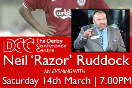 Derby Conference Centre - Ticket to an evening with Neil Razor Ruddock on Saturday 14th March - Save 51%