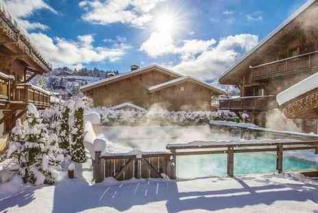 Hotel Les Loges Blanches Megeve - Four Star Authentic Alpine Chalet Stay in Chic Ski Resort for two - Save 29%
