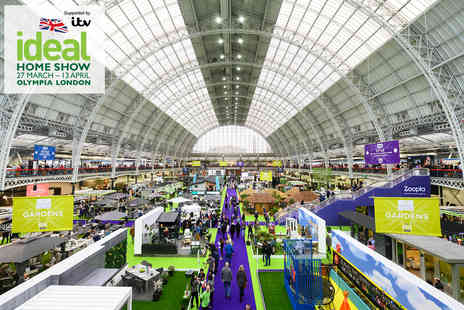 Media 10 - Two weekday tickets to the Ideal Home Show plus an Ideal Home Magazine - Save 56%