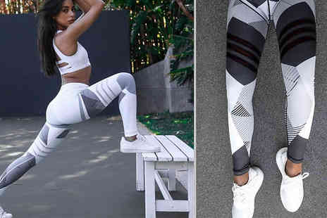 hey4beauty - High Waisted Fitness Shaping Leggings Choose from 2 Colours and 3 Sizes - Save 77%