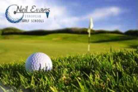 Neil Evans European Golf Schools - PGA Golf Tuition Two Hour Lesson - Save 58%