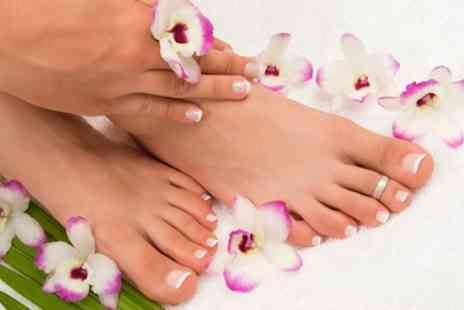 Beauty Lounge - Shellac Manicure, Pedicure or Both - Save 50%