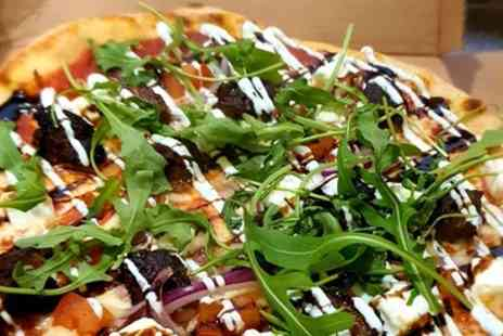 The Old School BBQ Ranch - Choice of Pizza with Beer or Soft Drink for Two or Four - Save 32%