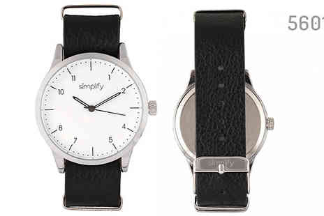 Ideal Deal - Simplify 5600 Genuine Leather Watches Choose from 5 Designs - Save 85%