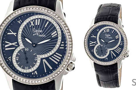 Ideal Deal - Sophie & Freda Genuine Leather Toronto Watch Available in 2 Styles - Save 88%