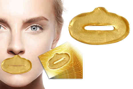 Forever Cosmetics - 10 gold collagen lip masks - Save 84%