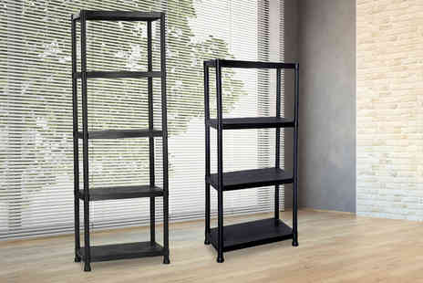 Who Needs Shops - Four tier shelf storage unit - Save 73%