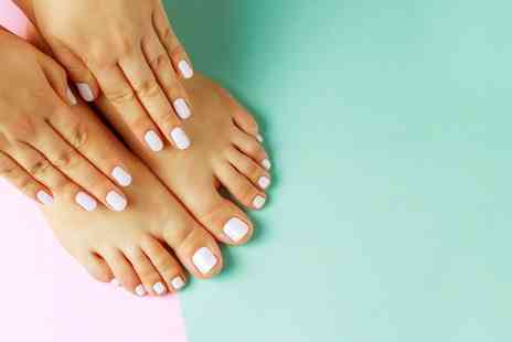Salon Angels - Gel manicure or pedicure with 30 minute cleansing facial - Save 63%