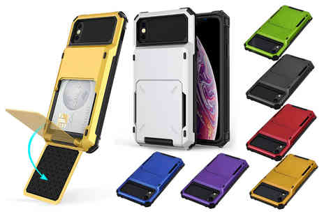 WishWhooshOffers - Shockproof rugged phone case for iPhone with a card holder - Save 0%