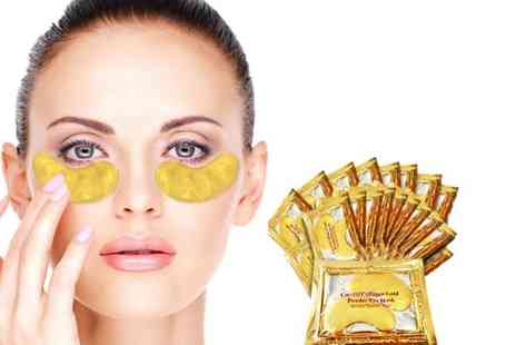 Forever Cosmetics - 10 gold collagen eye masks - Save 95%