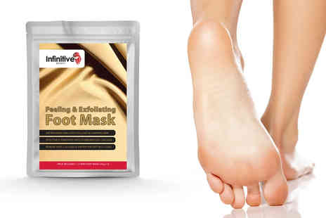 Forever Cosmetics - Pair of exfoliating foot masks - Save 92%