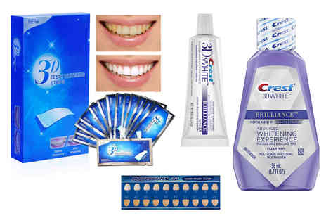 KAV Plus - 3D Professional whitening strips, Crest toothpaste and mouthwash - Save 38%