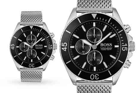 Best Watch Company - Hugo Boss 1513701 black ocean edition mens watch - Save 0%
