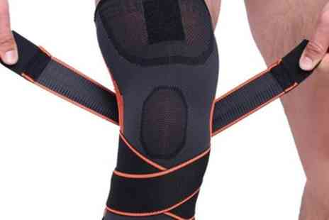 Groupon Goods Global GmbH - One or Two Vivo Knee Compression Sleeves with Adjustable Straps - Save 85%
