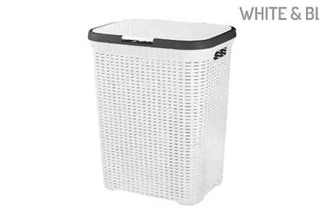 Fusion - Rattan Style Washing Basket Choose from 8 Colours - Save 68%