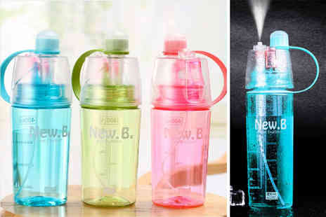 hey4beauty - Cooling spray sports bottle Choose from two sizes and three colours - Save 0%