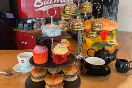 Bite Me Burgers - Burger Afternoon Tea with Free Flowing Prosecco for Two or Four - Save 20%