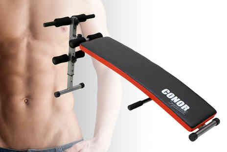 Who Needs Shops Ltd - Sports Abs bench trainer or Abs bench trainer with power ropes and dumbbells - Save 77%
