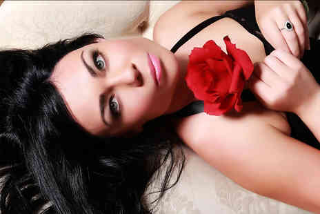 Xposure Studios - Boudoir photoshoot with a makeover, two 7 inch x 5 Inch prints, Prosecco, chocolates and £50 gift voucher - Save 89%