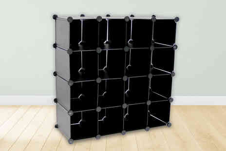 Who Needs Shops - Interlocking 16 compartment shoe organiser - Save 74%