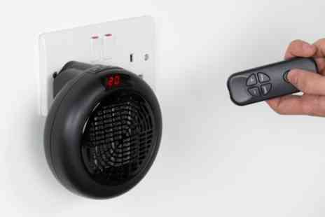 Groupon Goods Global GmbH - Plug In Space Heater With Remote Control - Save 0%