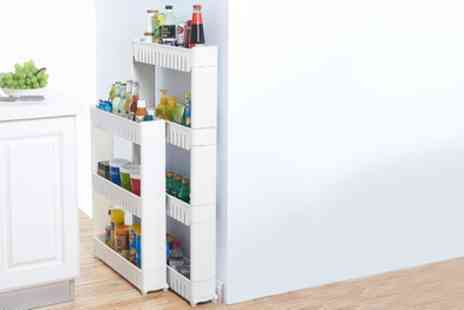 Groupon Goods Global GmbH - Three or Four Tier Kitchen Storage Trolley - Save 50%