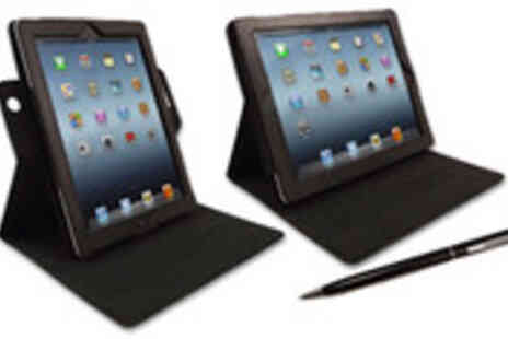 MoneySupermarket Deals - 3 in 1 multi angled case for iPad 2 or 3 with FREE iDuo Stylus and Pen - Save 75%