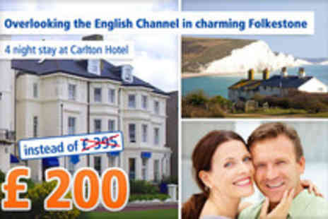 The Carlton Hotel - Classic seaside holiday in Folkestone for Four Nights - Save 49%