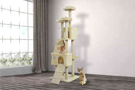 Mhstar - PawHut cat tree scratching post - Save 51%