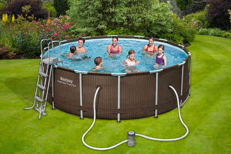 Eurotrade - 14ft Bestway durable polyrattan pool - Save 61%
