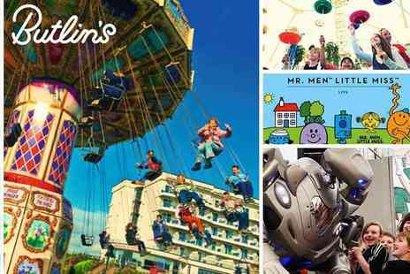 Butlins - Peak Day Visits to Butlins Bognor Regis 40% off February Half Term Day Passes - Save 40%