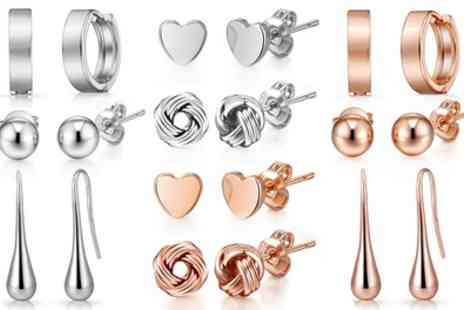 Groupon Goods Global GmbH - Up to Ten Pairs of Philip Jones Earrings - Save 80%