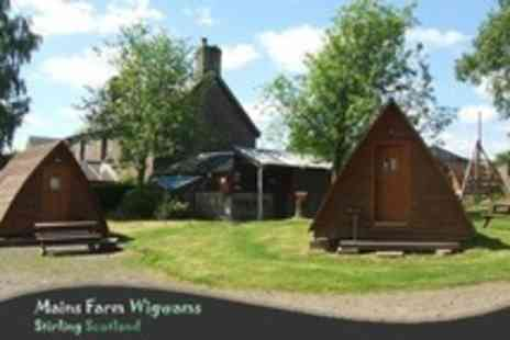 Mains Farm Wigwams - In The Trossachs Two Night Wigwam Stay For Two - Save 61%