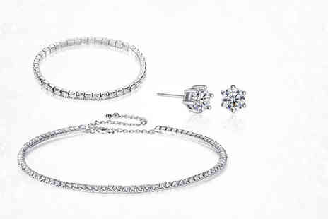 Gemnations - Crystal choker, bracelet and earring set from Gamechanger Associates - Save 93%