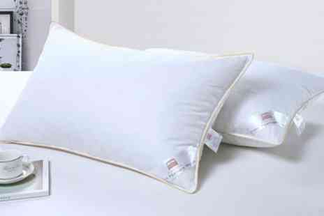 Groupon Goods Global GmbH - Pack of Two Duck Feather Pillows - Save 0%