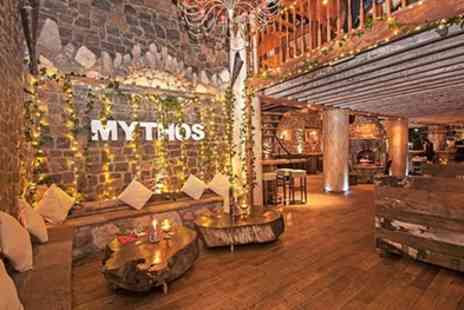 Mythos Restaurant - Three Course Greek Meal with Wine and Cocktail for Two or Four - Save 51%