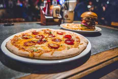 Beyond Bar - The choice of a pizza or burger with fries each for two people - Save 57%