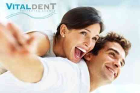 Vitaldent Wellbeing Studio - Teeth Whitening With Dental Examination and Clean - Save 78%