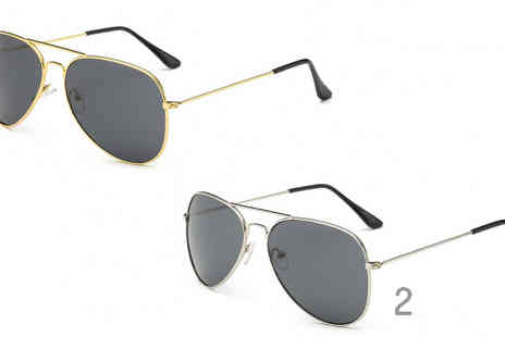 My Blu Fish - Unisex Aviator Sunglasses Choose from 11 Styles - Save 83%