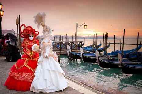Hotel Carlton On The Grand Canal - Four Star Perfectly Located Traditional Hotel and Exclusive Masquerade Party Experience for two - Save 80%
