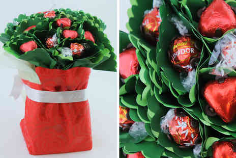 Edible Blooms - Edible chocolate bouquet including ten Lindor truffle and ten Swiss milk chocolates - Save 44%